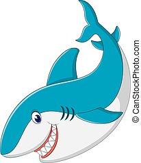 Süßer Hai-Cartoon.