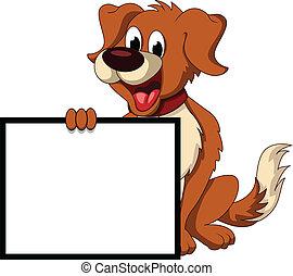 Süßer Hund Cartoon mit Platzpatronen