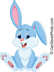 Süßer Kaninchen-Cartoon