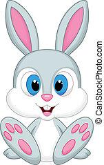 Süßer Kaninchen-Cartoon.