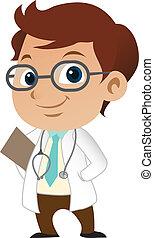 Süßer kleiner männlicher Arzt