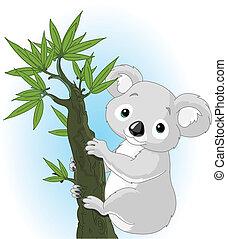 Süßer Koala auf einem Baum