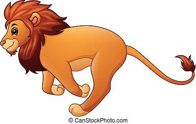 Süßer Löwe Cartoon läuft.