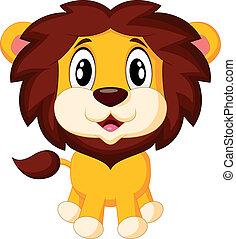 Süßer Löwe Cartoon.