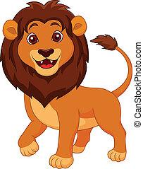 Süßer Löwen-Zeichentrick