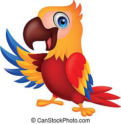 Süßer makawischer Vogel-Zeichentrickfilm
