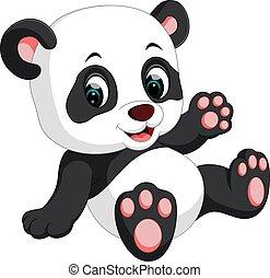 Süßer Panda-Cartoon.