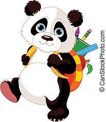 Süßer Panda geht zur Schule
