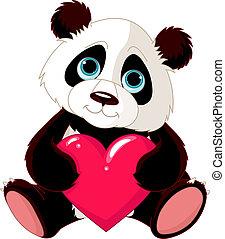 Süßer Panda mit Herz.