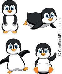 Süßer Pinguin-Zeichentrickfilm