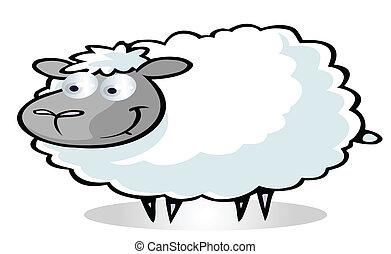 Süßer Schaf-Cartoon.