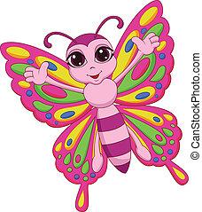 Süßer Schmetterlings-Cartoon
