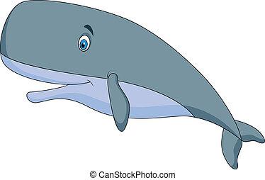 Süßer Spermienwal- Cartoon