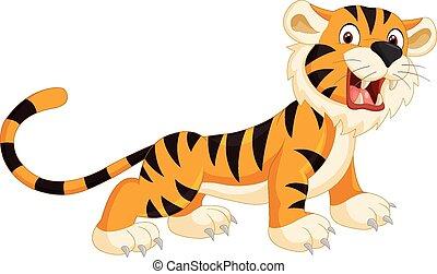 Süßer Tiger Cartoon.