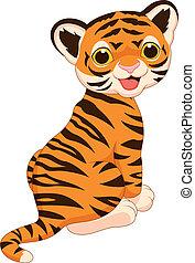 Süßer Tiger-Zeichentrick