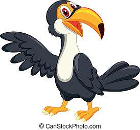 Süßer toucanischer Vogel-Zeichentrickfilm
