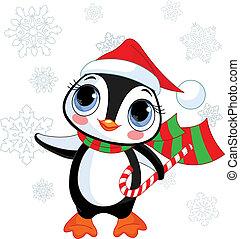 Süßer Weihnachts-Pinguine