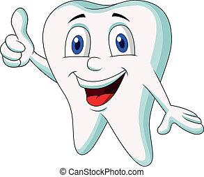 Süßer Zahn-Zeichen- Daumen hoch