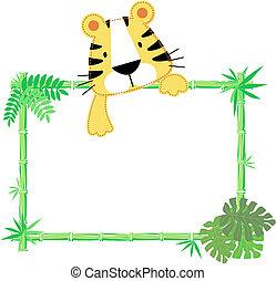 Süßes Baby-Tiger-Rahmen.