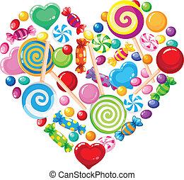 Süßes Herz weiß
