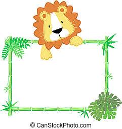 Süßes Löwenbaby.