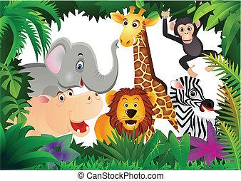 Safari Cartoon.