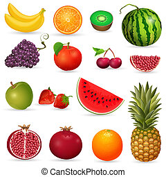 Saftige Frucht isoliert.