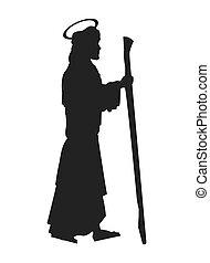 Saint Joseph Silhouette Ikone.