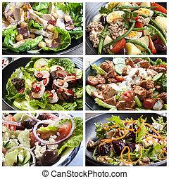 Salads Lebensmittelcollage