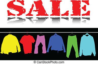 Sale Bekleidungsfarbe illustriert