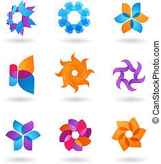 Sammeln von abstrakten Sternen-Ikonen
