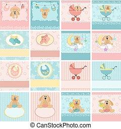 Sammeln von Babykarten