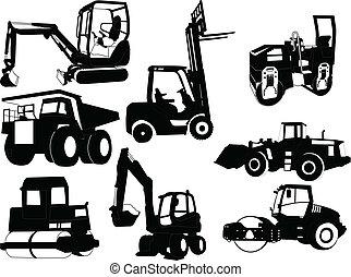 Sammeln von Baumaschinen