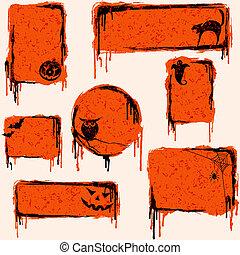 Sammeln von grausigen Halloween-Elementen