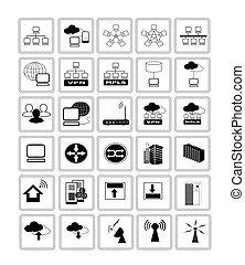 Sammeln von Netzwerk-Web-Ikonen