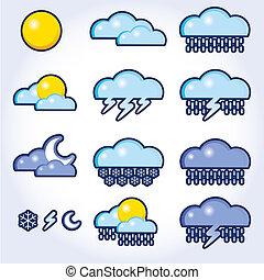 Sammeln von Vektoren, Wetter-Ikonen
