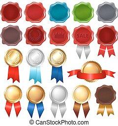 Sammelwachs und Auszeichnungsbänder