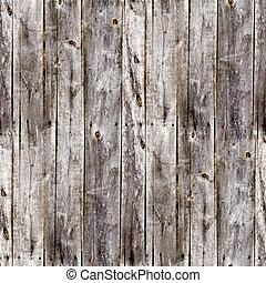 Sammlose alte, graue Zäune, Bretter aus Holz
