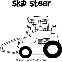 Sammlung Skid Steer Hand zeichnen.