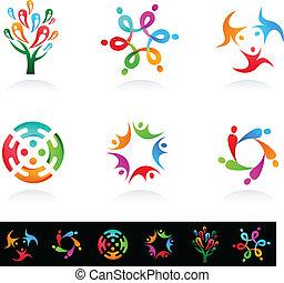 Sammlung sozialer Medien und Netzwerk-Ikonen