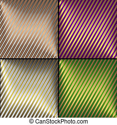 Sammlung Vektor diagonal gestreifte Hintergründe.