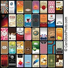Sammlung von 40 Visitenkarten