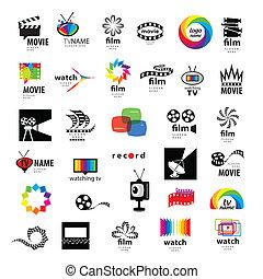 Sammlung von Logos TV, Video, Foto, Film