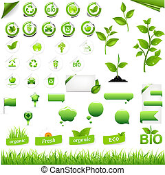 Sammlung von Umweltelementen