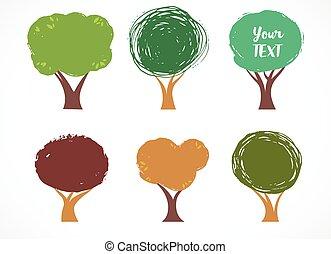 Sammlung von Vektorbaum-Icons.