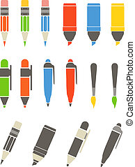 Sammlung von Werkzeugen. Flat Design