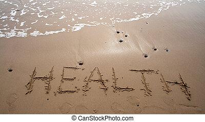 Sand schreibt - Gesundheit