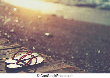 sandstrand, sommer urlaub