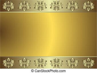Sanfter goldener und silberiger Hintergrund (vektor)