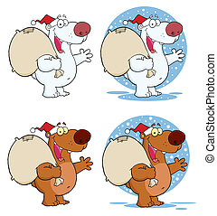 Santa Bär winkt mit einem Gruß